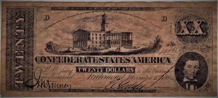 Confederate $20 Bill