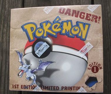 Pokemon 1st edition fossil booster box. Factory sealed