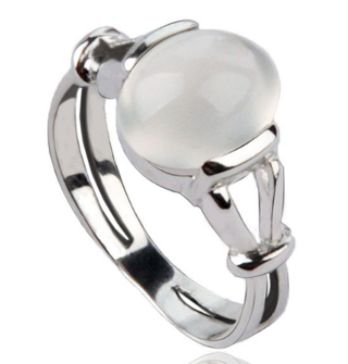 NEW Birthstone MOON Ring .925 Sterling Silver FREE GIFTBOX FREE SHIPPING