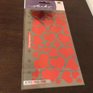 Sticko heart stickers