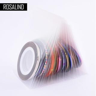 ROSALIND 30Pcs 30 Multicolor Mixed Colors Rolls Striping Tape Line Nail Art Decoration Sticker DIY