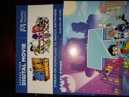 Teen titans go to the movies digital HD code