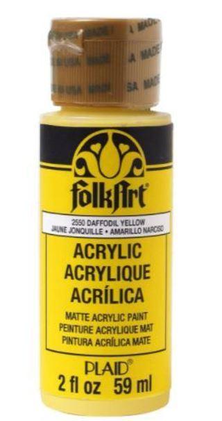 Daffodil Yellow FolkArt  Acrylic Paint, 2oz