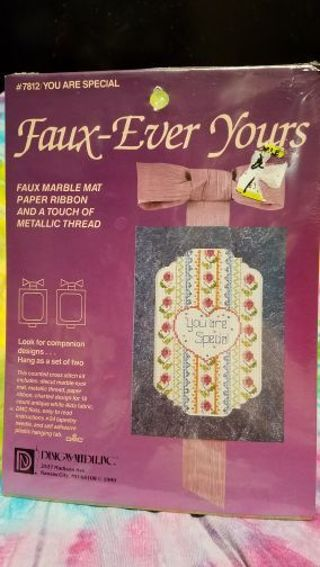 BNIP FAUX-EVER YOURS COUNTED CROSS STITCH KIT DECORATION FOR THAT SPECIAL SOMEONE