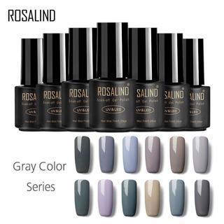 ROSALIND Gel 1S 7ml GRAY Color Series gel varnish UV LED Soak-off Gel Polish Varnish Acrylic For N