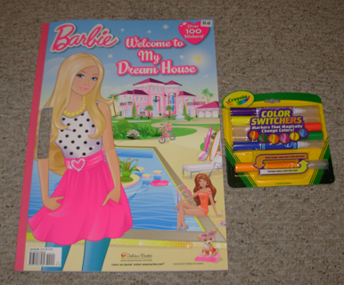 Barbie Welcome To My Dream House Jumbo Coloring Book With Stickers Crayola Markers