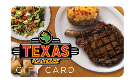 $200 Texas Roadhouse Gift Card PDF Printable card