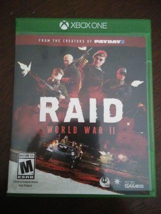 Xbox one game (RAID WORLD WAR II)