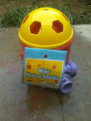 childrens  fire hydrant yard sprinkler