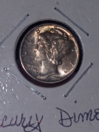 BU Mint State 1944 Mercury Dime Full Mint Luster, Full Split Bands Tiered Auction!$!