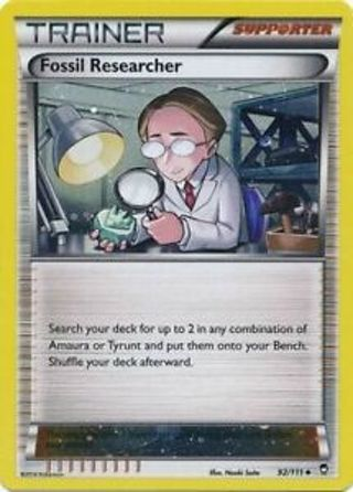 Fossil Researcher - 92/111 - Promo Furious Fists Pokemon