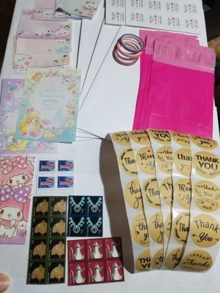 ☀️☀️☀️SHIPPING SUPPLIES ☀️☀️ FOREVER STAMPS ☀️☀️ THANK YOU STICKERS ☀️☀️PINK POLY MAILERS ☀️☀️