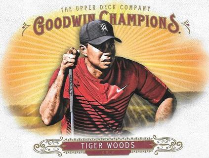 (2) 2018 Upper Deck Goodwin Champions Tiger Woods
