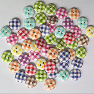 [GIN FOR FREE SHIPPING] 50Pcs 2 Holes Wooden Buttons Sewing
