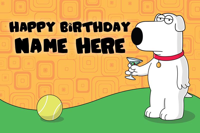 Free: Custom Family Guy Birthday Card - Brian Griffin ...