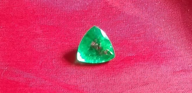 EMERALD NATURAL FROM ZAMBIA HUGE 6.80 CARATS SIZE 13X13X13 MM'S BEAUTIFUL!
