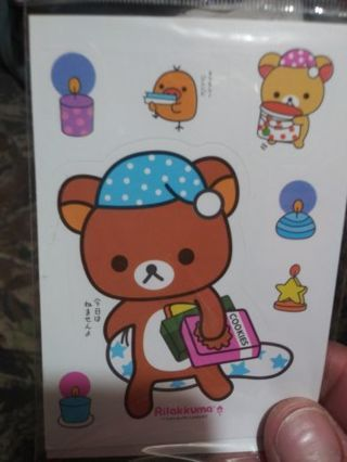 Rilakkuma one new cute sticker No refunds! Good quality! Lowest gins no lower! Last one!