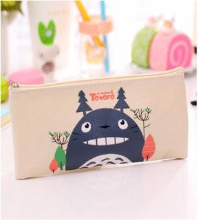 New Cute Soft Canvas Pencil Pen Case Novelty Makeup Cosmetic Pouch Bag Zipper BH