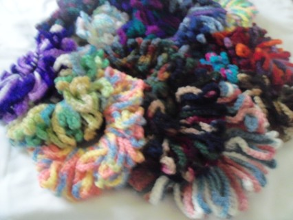 (1st)ONE DOZEN VARIGATED MYSTERY PACKAGE OF HAIR SCRUNCHIES