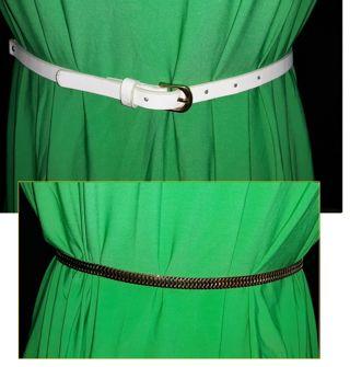 """Fashion Belt White & Gold Chain Glam Womens 36"""""""