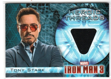 IRON MAN 3 ~ ROBERT DOWNEY JR  Authentic Movie Worn Costume Swatch, Mega Rare