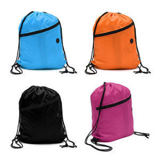 Travel Waterproof School Duffle Gym Pack Backpack Drawstring Bag Pouch