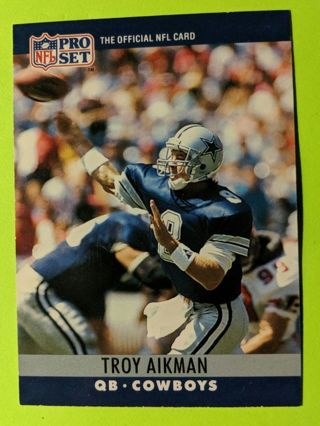 TROY AIKMAN ROOKIE CARD * FIRST PRO-SET CARD