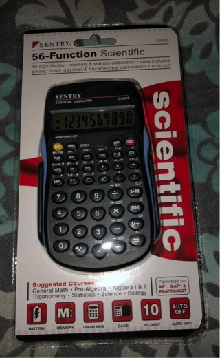 BNIP Sentry 56 Function Scientific Calculator. Great For Office / Classes. Case Included .