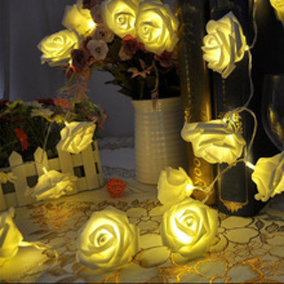 Fashion Holiday Lighting 20 x LED Novelty Rose Flower Fairy String Lights Wedding Garden