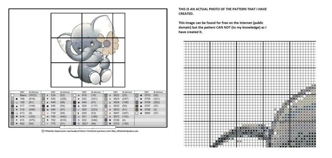 Elephant Cross Stitch Patterns ***WINNERS CHOICE***