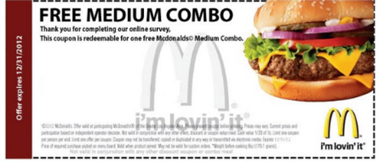 Mcdonalds Coupons For Free Food