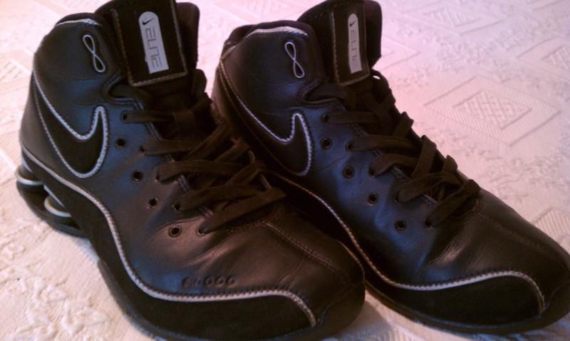 d396822c4d03f7 FREE     EUC    NIKE SHOX FLIGHT ELITE Women s Basketball Shoes Mid-Rise  (Black Leather) WOMEN S SIZE 9