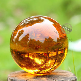 Amber Asian Rare Natural Quartz Magic Crystal Healing Ball Sphere 40mm + Stand 401