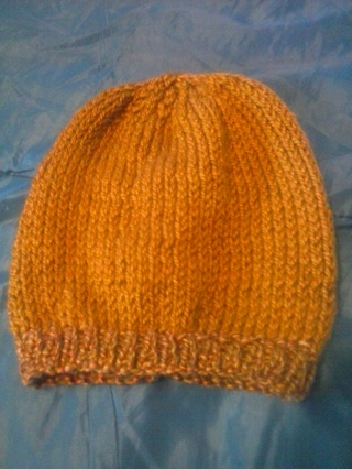 New hand knitted child size winter hat