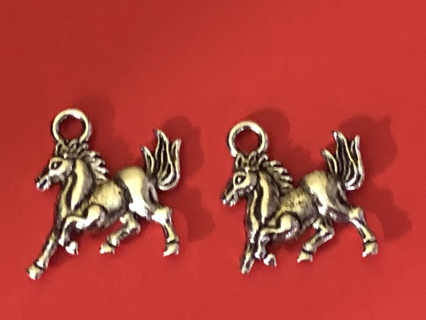 2 New Horse Charms - Double sided
