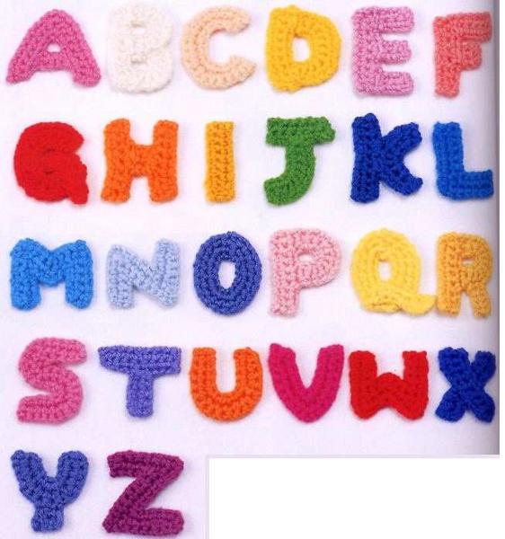 Free Crochet Pattern Alphabet Letters : Free: ALPHABET Letters ABCs CROCHET Pattern PDF File ...