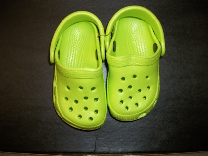 BN*Lime Green Size 6/7 Children's Hopper Brand Clogs*5 Day w/GIN & Free Shipping