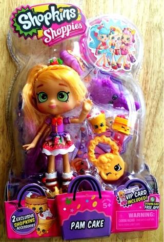 Shopkins Shoppies Doll, Pam Cake (HTF!)