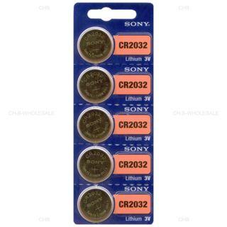 5 NEW SONY CR2032 3V Lithium Coin Battery Expire 2027 FRESHLY NEW - USA Seller
