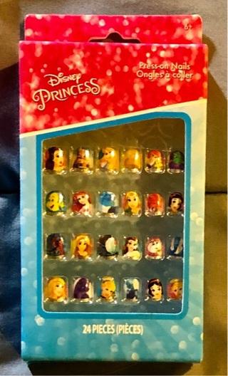 BNIP Disney's PRINCESSES Press On Nails 24 To Winner. Instructions Incld