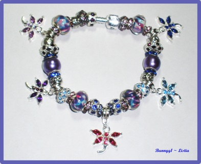 """'Dragonflies 2' Euro Bracelet from Design by Bunny ~ 8.5"""" ~ NEW!"""