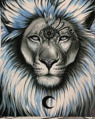 """LUNAR LION - 4 x 5"""" MAGNET"""
