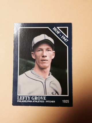 Free 1947 Hall Of Fame Pitcher Lefty Grove Baseball Card Trading