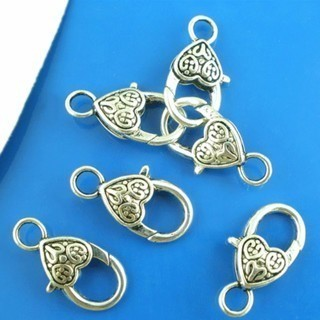 [GIN FOR FREE SHIPPING] 20PCs Heart and Love Lobster Clasps