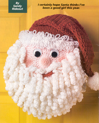 Free Crochet Patternlly Santa Claus Pillow Or Walldoor