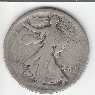 1917-S Silver Half Dollar