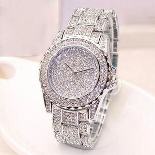 Diamonds Men's Watch Silver Gold Luxury Wrist Watch Men Women Unisex Hombre Quartz Wrist Watch