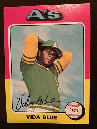 1975 TOPPS VIDA BLUE CARD