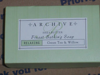 New Archive Green Tea Willow Relaxing Bath Soap with Shea Butter 2.25oz bar PAYPAL ONLY
