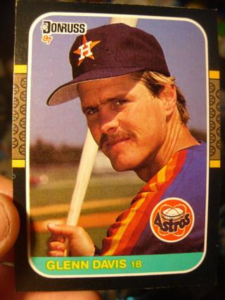 Glenn Davis Baseball Card
